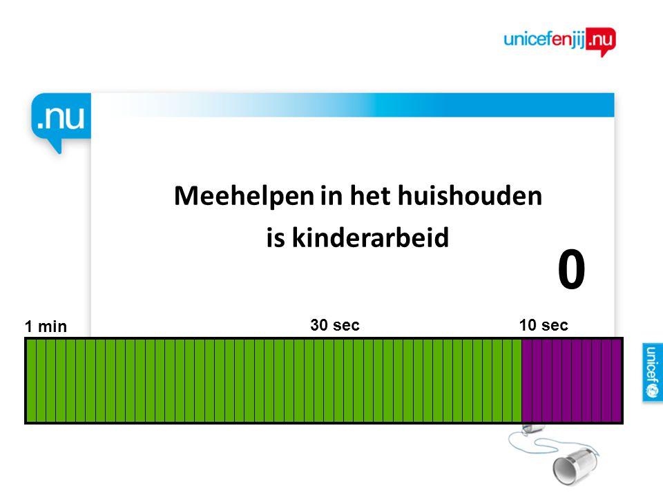Meehelpen in het huishouden is kinderarbeid 1 min 30 sec 10 sec 9876543210