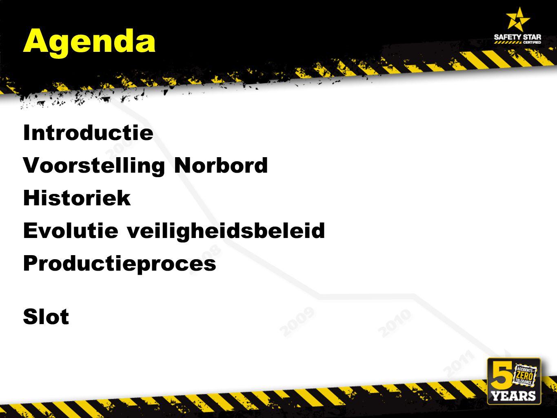 Agenda Introductie Voorstelling Norbord Historiek Evolutie veiligheidsbeleid Productieproces Slot