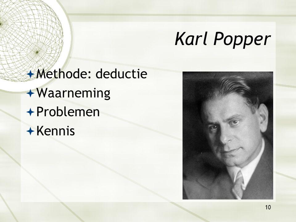 9 2. Concepten Poppers ideaal van de wetenschap