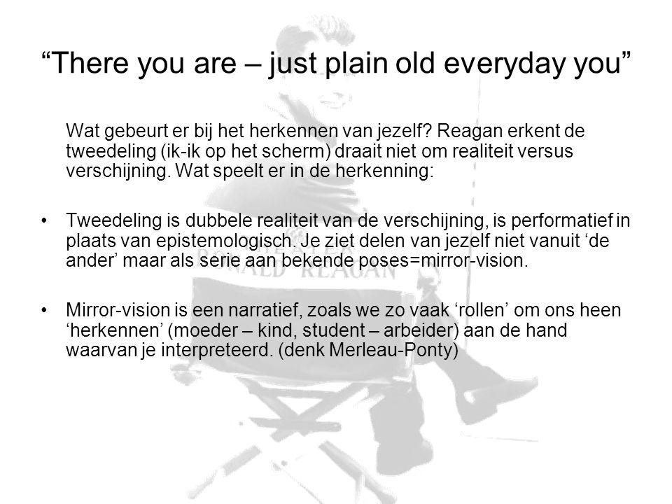 There you are – just plain old everyday you Wat gebeurt er bij het herkennen van jezelf.
