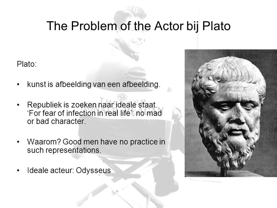 The Problem of the Actor bij Plato Plato: kunst is afbeelding van een afbeelding. Republiek is zoeken naar ideale staat. 'For fear of infection in rea