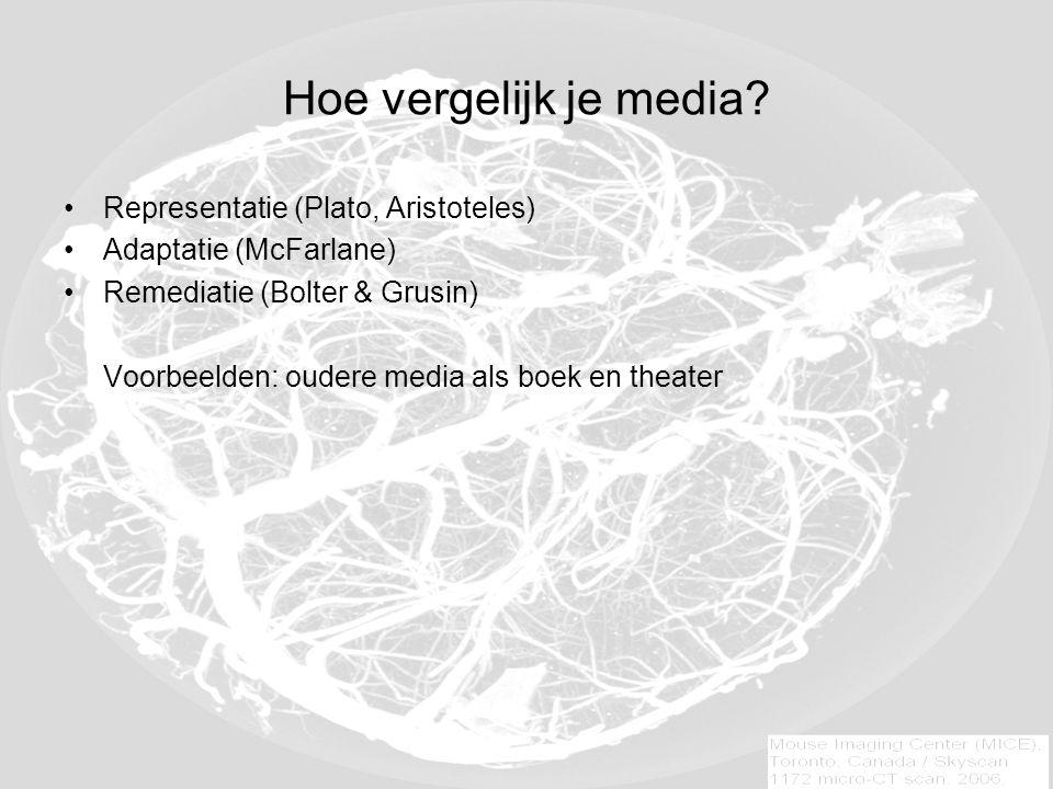 Hoe vergelijk je media.