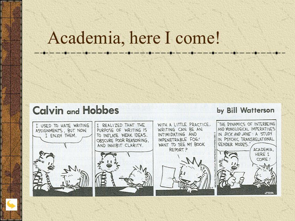 Academia, here I come!