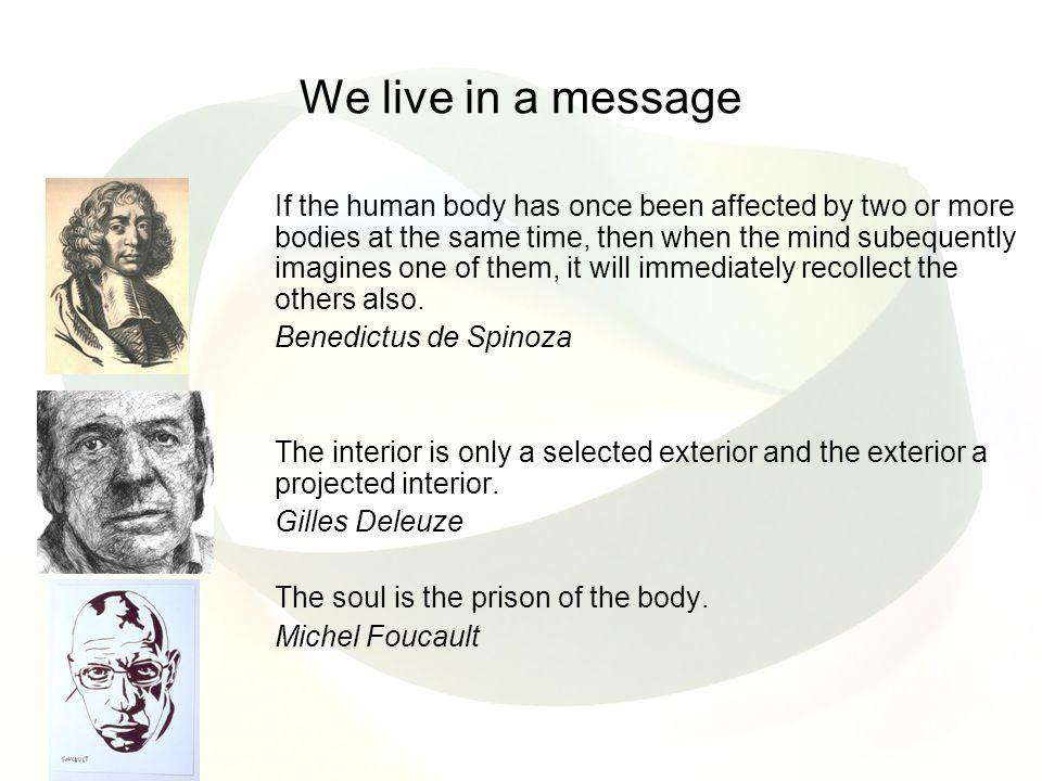 Virilio en Cache en Spuybroek Alle drie architecten Alle drie op zoek naar een nieuwe fenomenologie (Lenoir) Virilio zoekt naar wat leven in de virtual age betekent Cache zoekt naar de beperktheid van de architectuur en van het ruimtegebruik in het algemeen Spuybroek: architectuur als een responsive prothesis into our motor system