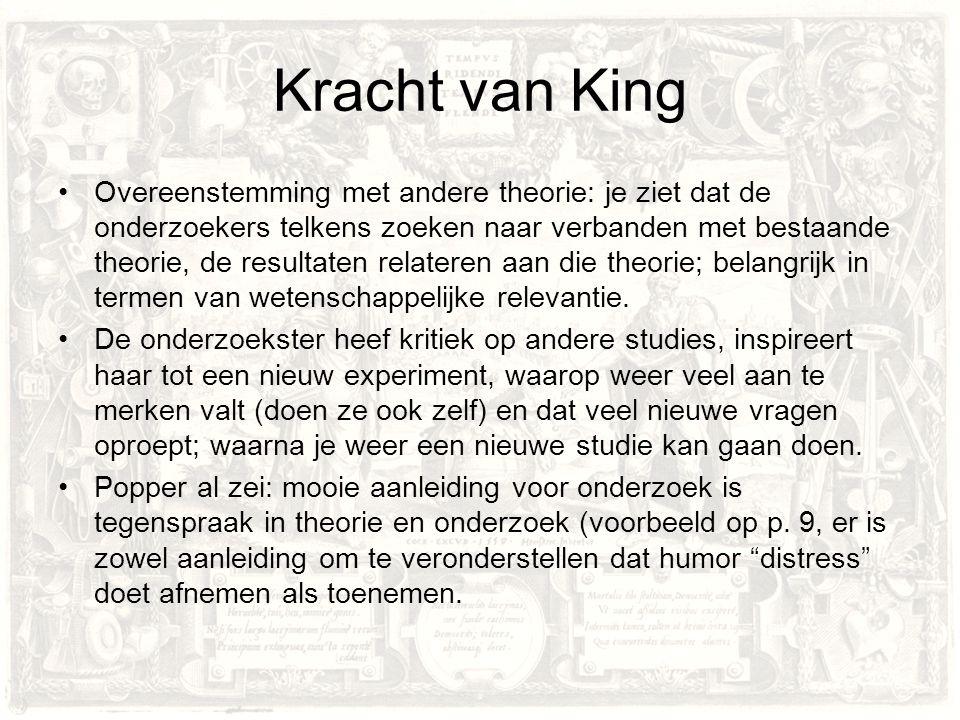 Zwakte van King Een voorspelling wordt op p.