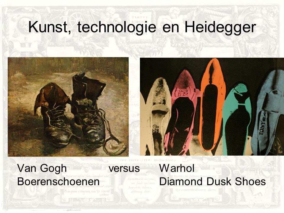 Kunst, technologie en Heidegger Van Gogh versusWarhol BoerenschoenenDiamond Dusk Shoes