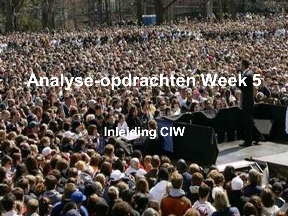 Analyse-opdrachten Week 5 Inleiding CIW