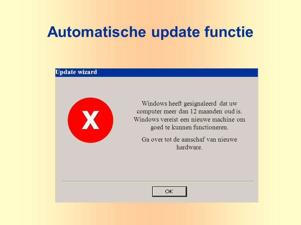 Update wizard Windows heeft gesignaleerd dat uw computer meer dan 12 maanden oud is. Windows vereist een nieuwe machine om goed te kunnen functioneren