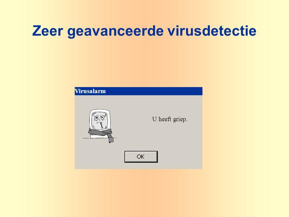 U heeft griep. Virusalarm Zeer geavanceerde virusdetectie