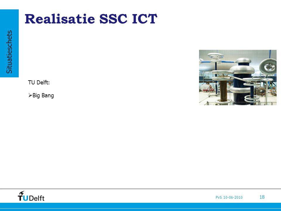 PvS 10-06-2010 18 Realisatie SSC ICT TU Delft:  Big Bang Situatieschets