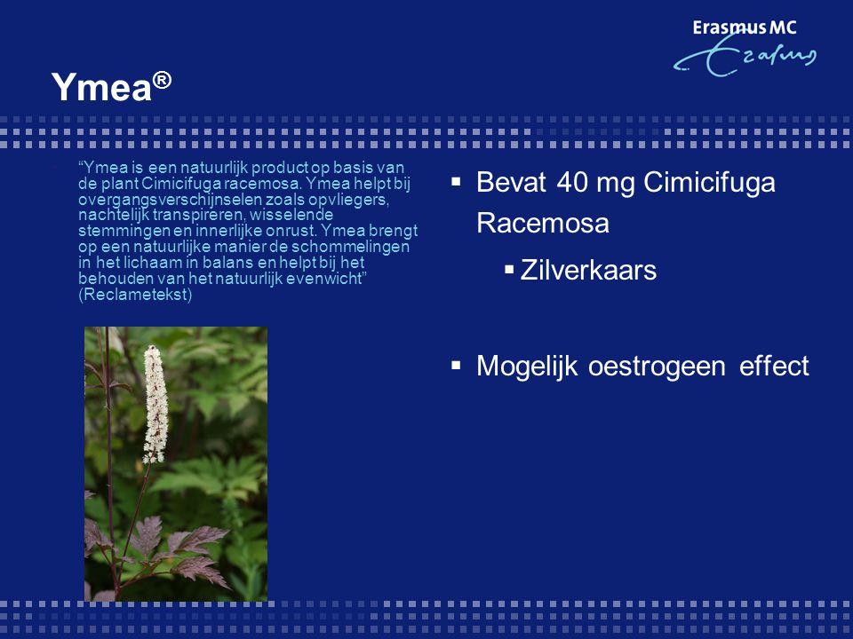 """Ymea ®  """"Ymea is een natuurlijk product op basis van de plant Cimicifuga racemosa. Ymea helpt bij overgangsverschijnselen zoals opvliegers, nachtelij"""