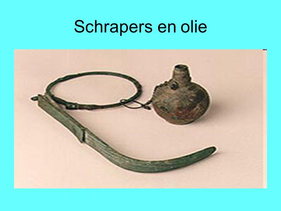 Schrapers en olie