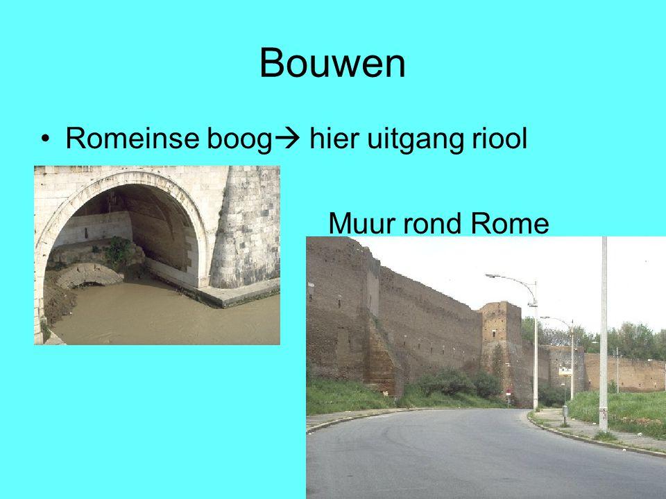 Bouwen Romeinse boog  hier uitgang riool Muur rond Rome