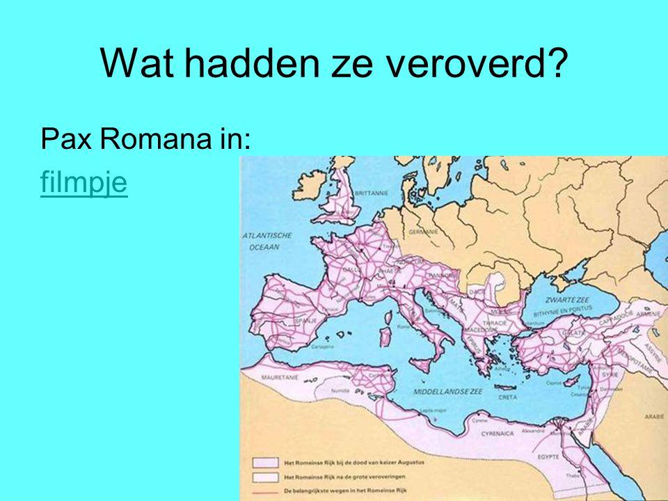 Wat hadden ze veroverd? Pax Romana in: filmpje