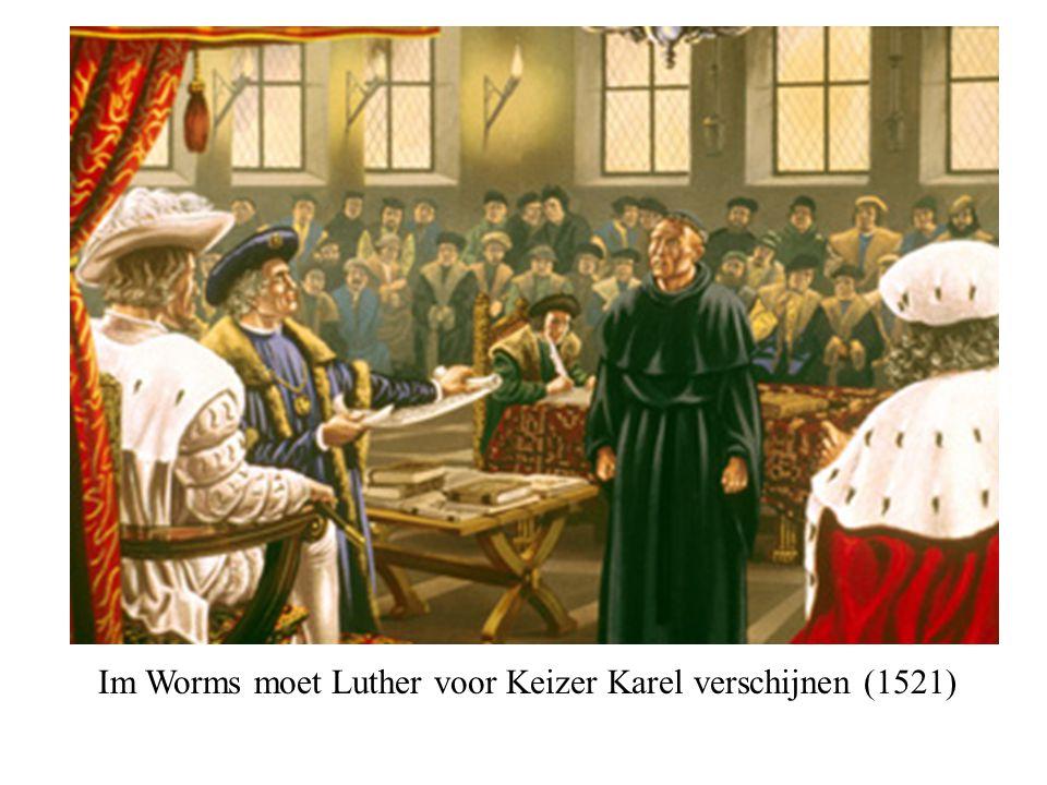 Im Worms moet Luther voor Keizer Karel verschijnen (1521)