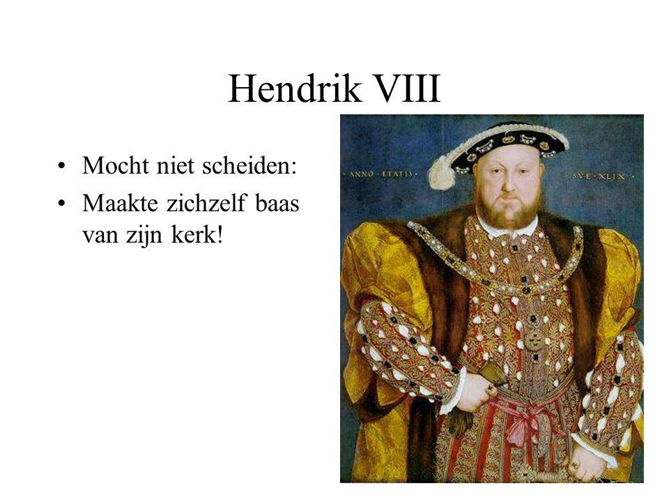 Hendrik VIII Mocht niet scheiden: Maakte zichzelf baas van zijn kerk!