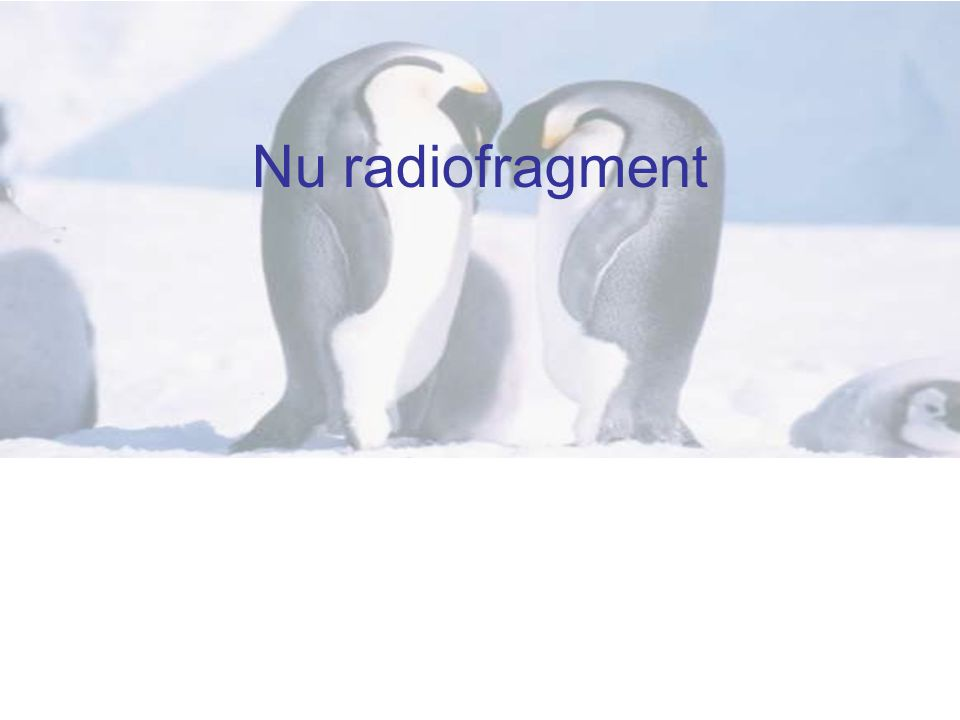 Nu radiofragment