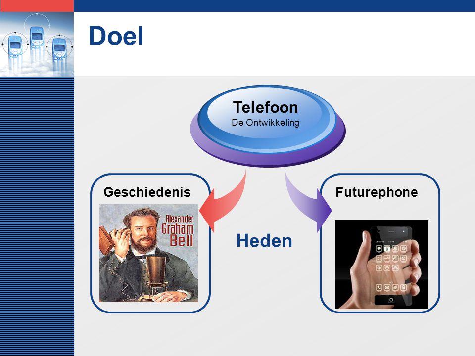 LOGO Doel Geschiedenis Telefoon De Ontwikkeling Futurephone Heden