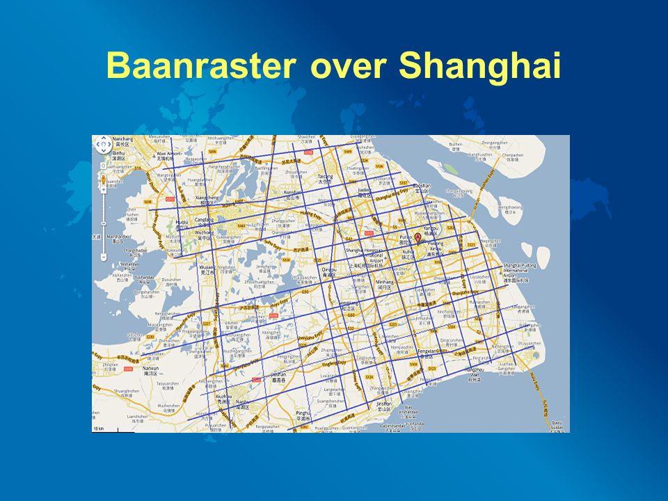 Baanraster over Shanghai