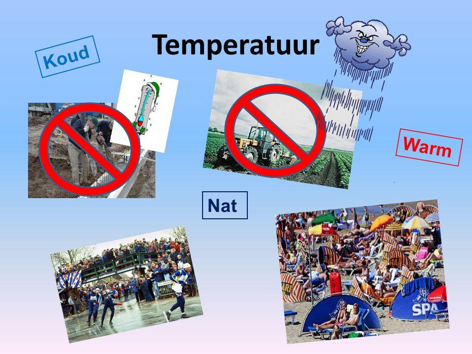 Het meten van temperatuur Kwik; bevriest bij -39C en kookt bij +350C Alcohol; bevriest bij -114C en kookt bij +78C F C = - 32C Vloeistof thermometer Welke vloeistof zit er in?