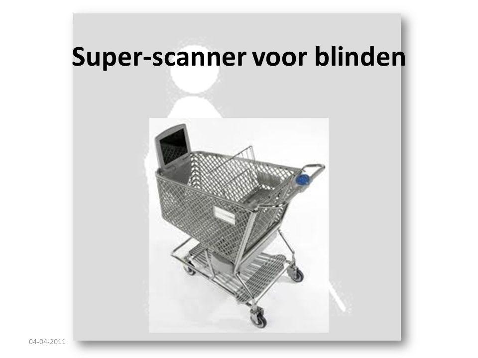 Super-scanner voor blinden 04-04-2011