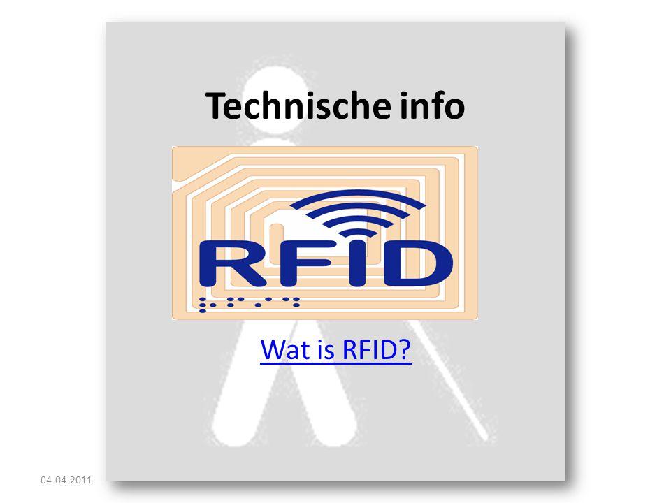 Technische info Wat is RFID? 04-04-2011