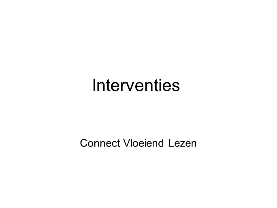 Interventies Connect Vloeiend Lezen