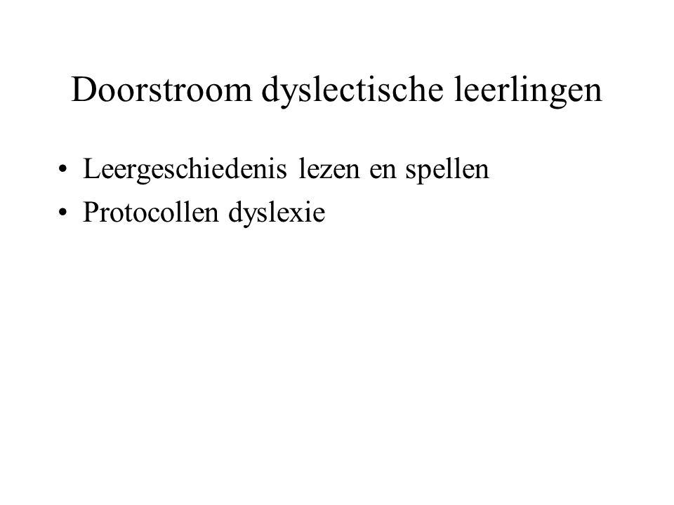 VO Protocol Dyslexie Voortgezet Onderwijs (Henneman, Kleijnen & Smits, 2004) PO Protocol Leesproblemen en Dyslexie voor groep 1-4 (Wentink & Verhoeven, 2003) Protocol Leesproblemen en Dyslexie voor groep 5-8 (Wentink & Verhoeven, 2004)
