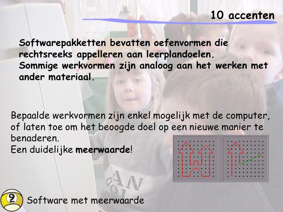Overaanbod software 10 accenten Het overgrote deel van het softwareaanbod richt zich tot het thuisgebruik.
