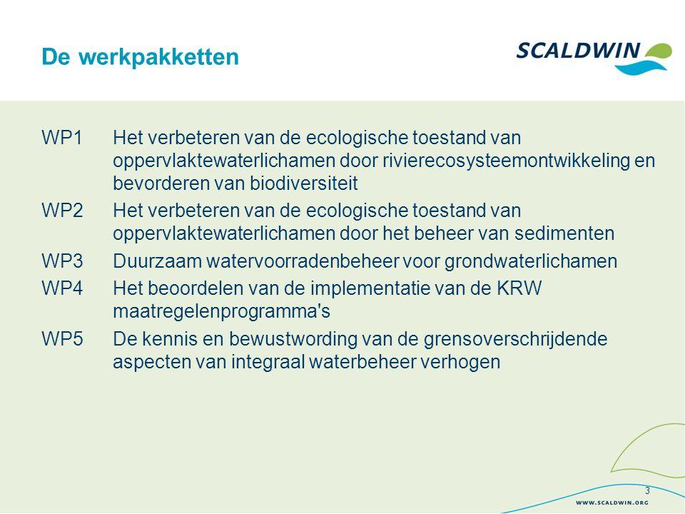 Vlaamse Milieumaatschappij (VMM) - Lead partner Leefmilieu Brussel - Bruxelles Environnement (BIM-IBGE) Direction générale opérationnelle de l Agriculture, des Ressources naturelles et de l'Environnement (DGARNE) Direction régionale de l environnement, de l'aménagement et du logement (DREAL) Nord - Pas-de-Calais Lille Métropole Communauté Urbaine (LMCU) Waterschap Scheldestromen (WSSS) Provincie Zeeland (Prov Zeeland) Ministerie van Verkeer en Waterstaat, DG Water (Min V&W) De partners 4