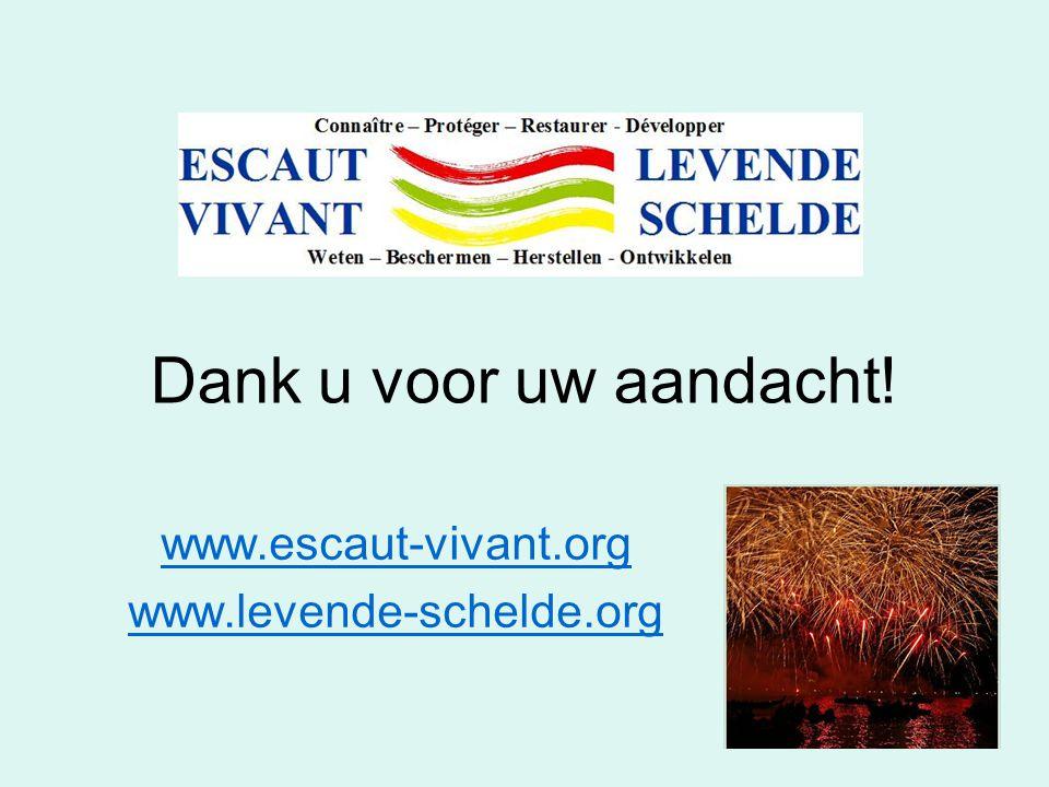 Dank u voor uw aandacht! www.escaut-vivant.org www.levende-schelde.org