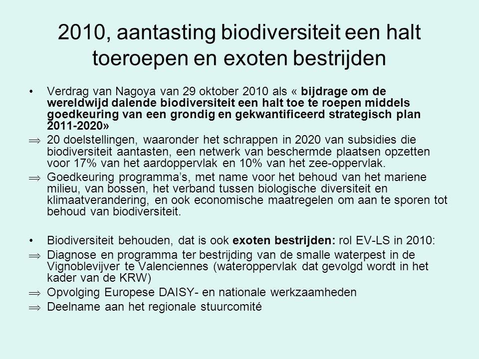 2010, aantasting biodiversiteit een halt toeroepen en exoten bestrijden Verdrag van Nagoya van 29 oktober 2010 als « bijdrage om de wereldwijd dalende