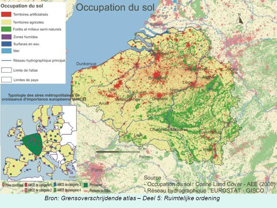 Bron: Grensoverschrijdende atlas – Deel 5: Ruimtelijke ordening