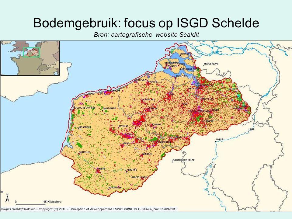 Bodemgebruik: focus op ISGD Schelde Bron: cartografische website Scaldit