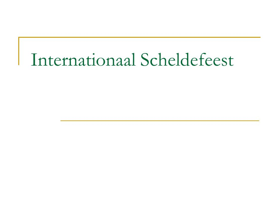 Internationaal Scheldefeest