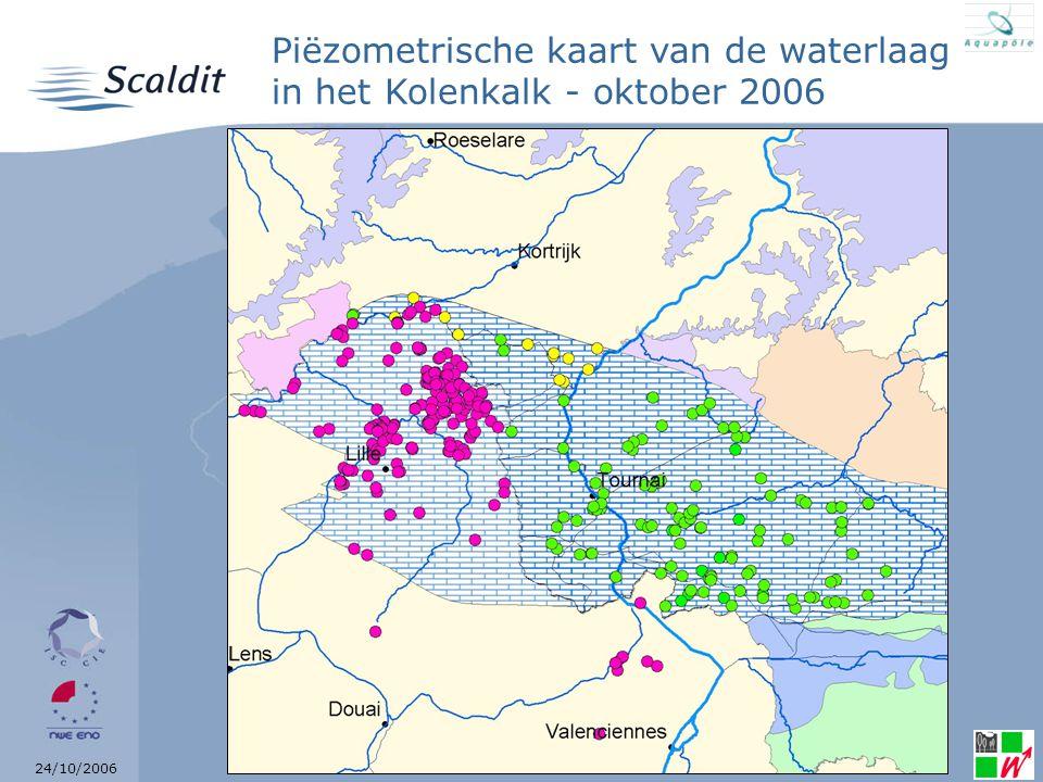 24/10/2006 Piëzometrische kaart van de waterlaag in het Kolenkalk - oktober 2006