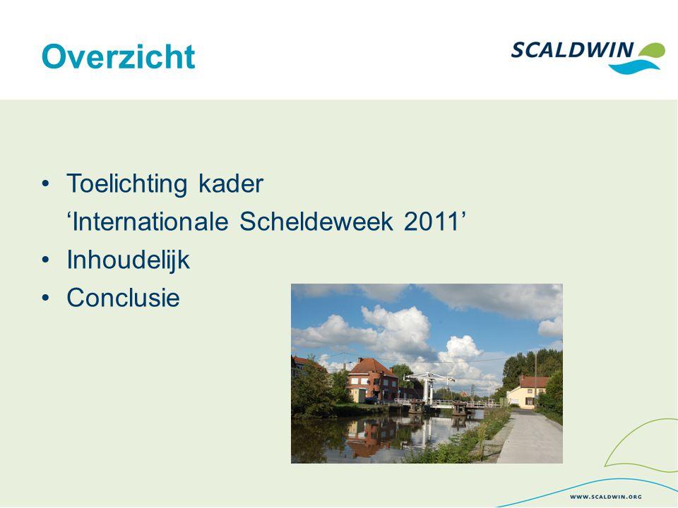 Overzicht Toelichting kader 'Internationale Scheldeweek 2011' Inhoudelijk Conclusie
