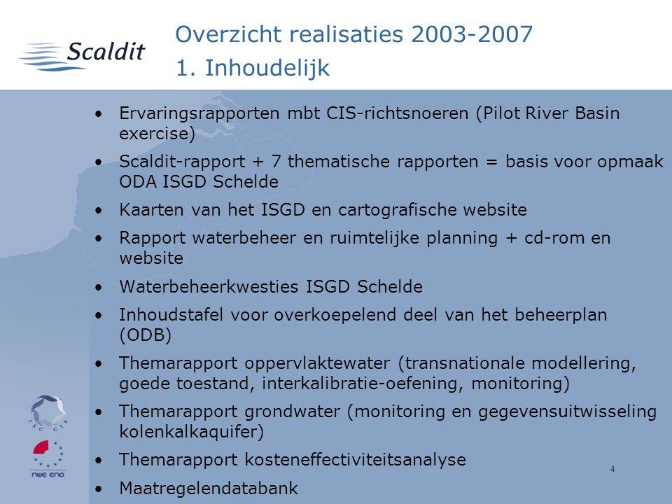 4 Overzicht realisaties 2003-2007 1.