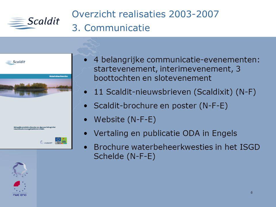 6 Overzicht realisaties 2003-2007 3.