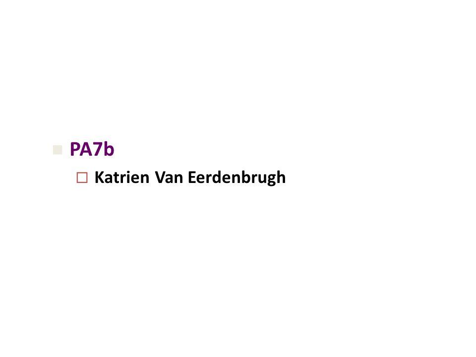 PA7b  Katrien Van Eerdenbrugh