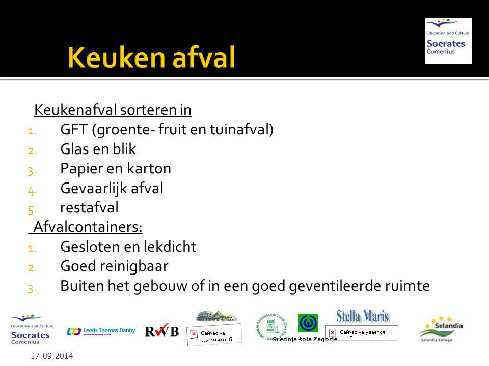Keukenafval sorteren in 1. GFT (groente- fruit en tuinafval) 2.