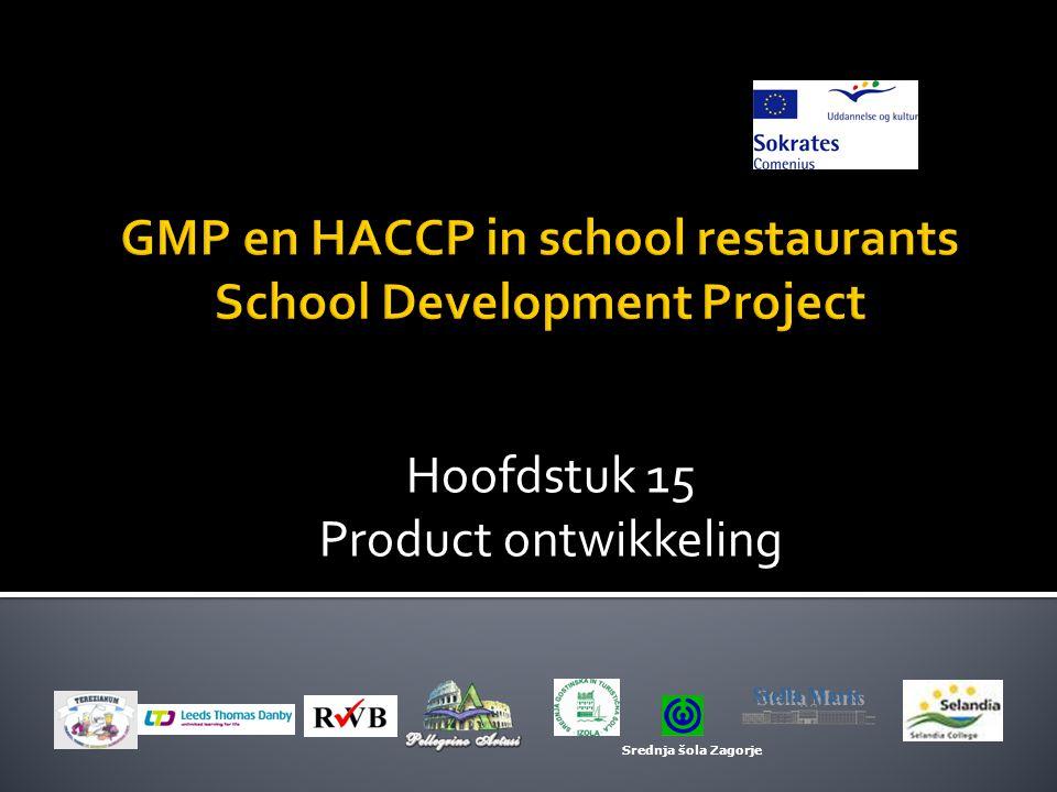 Hoofdstuk 15 Product ontwikkeling Srednja šola Zagorje