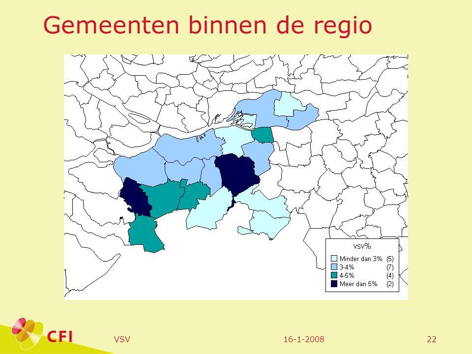 16-1-2008VSV22 Gemeenten binnen de regio