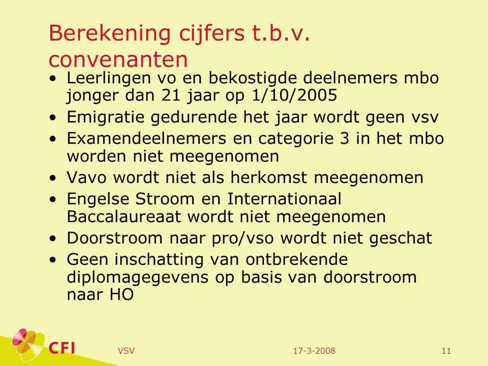 17-3-2008VSV12 RMC-regio Arnhem/Nijmegen (regio-indeling op basis van de woonplaats van de leerling ongeacht of de onderwijsinstelling buiten de regio gelegen is) Leerlingpopulatie in regio landelijk Positie binnen alle RMC-regio's w.b.