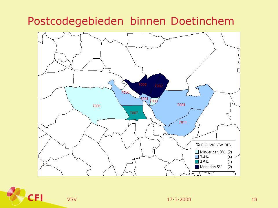 17-3-2008VSV18 Postcodegebieden binnen Doetinchem