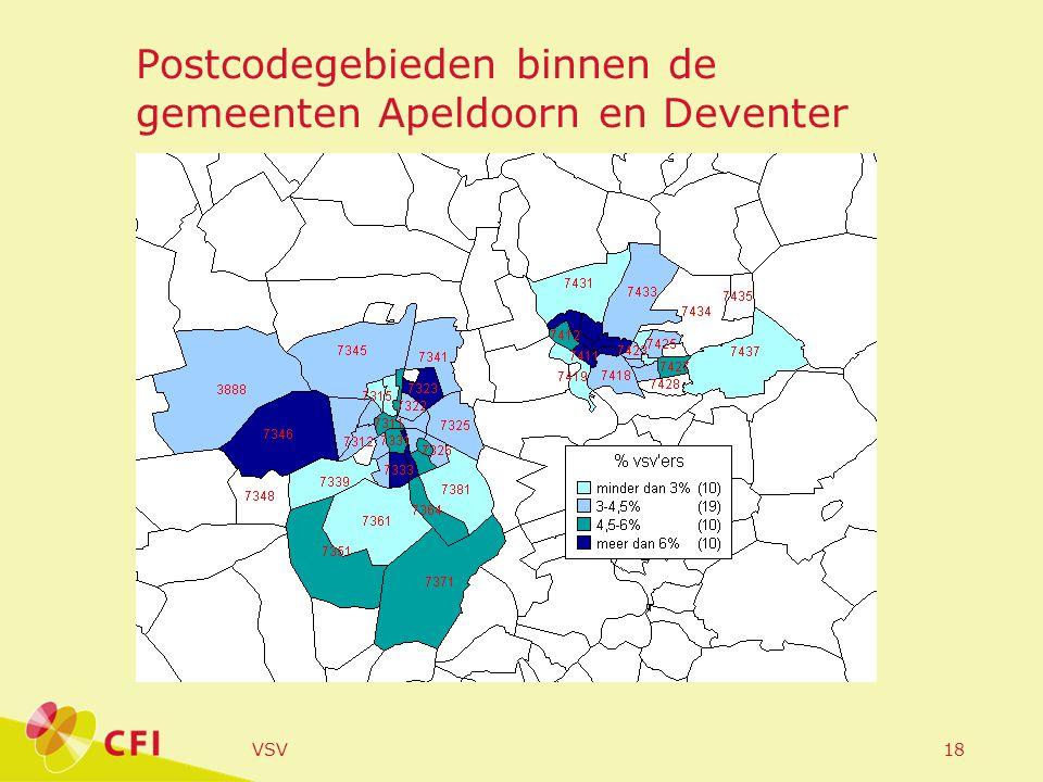 VSV18 Postcodegebieden binnen de gemeenten Apeldoorn en Deventer