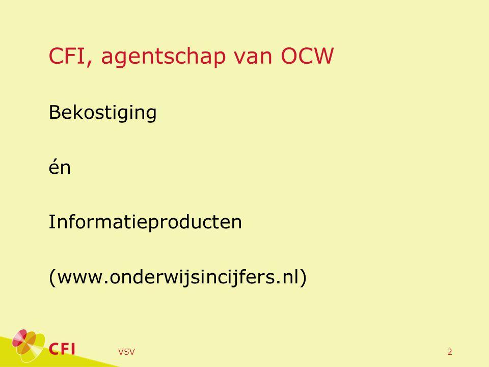 VSV2 CFI, agentschap van OCW Bekostiging én Informatieproducten (www.onderwijsincijfers.nl)