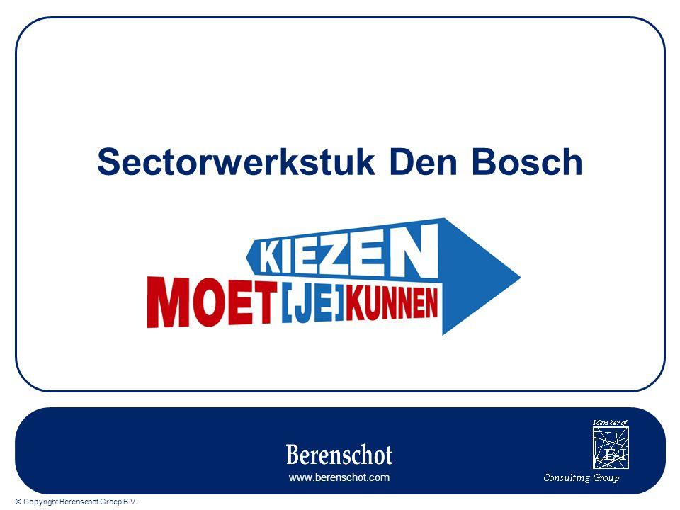 © Copyright Berenschot Groep B.V. www.berenschot.com Sectorwerkstuk Den Bosch