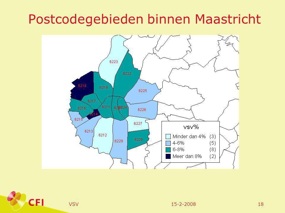 15-2-2008VSV18 Postcodegebieden binnen Maastricht