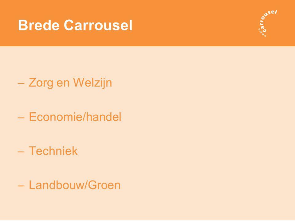 Brede Carrousel –Zorg en Welzijn –Economie/handel –Techniek –Landbouw/Groen